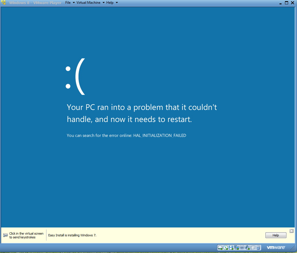 blue screen of the death with windows 8