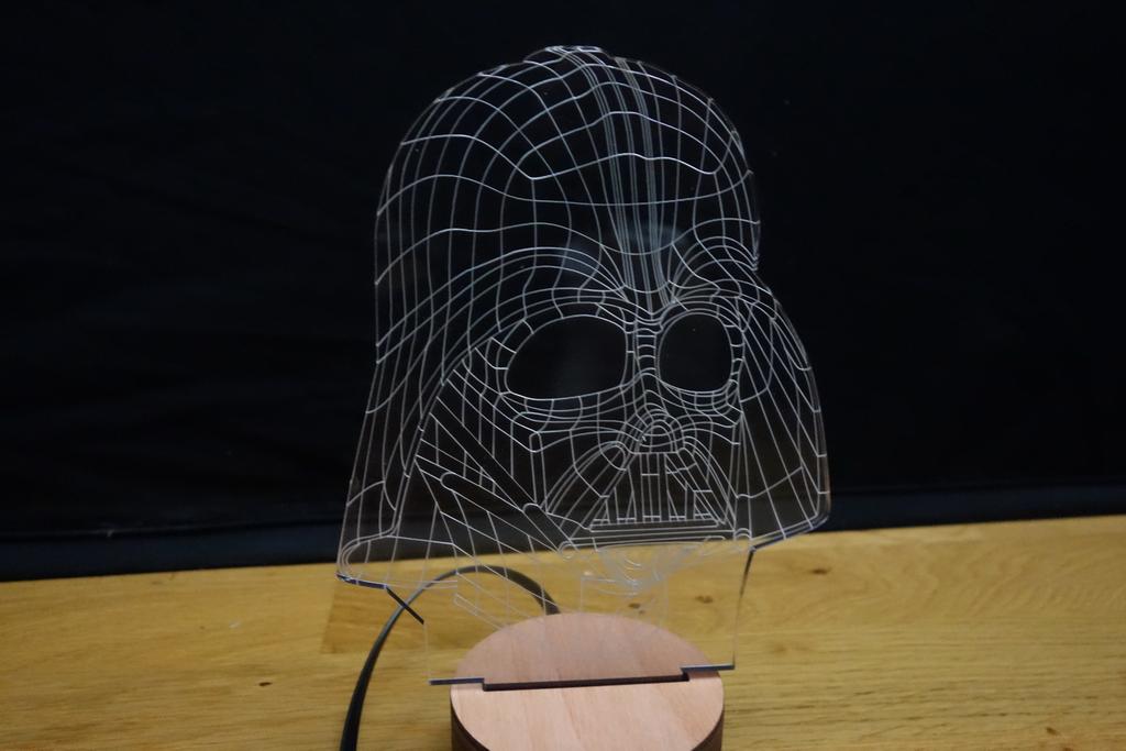 3D Wood Mood Lamp Bulbing Light Star Wars Darth Vader-1