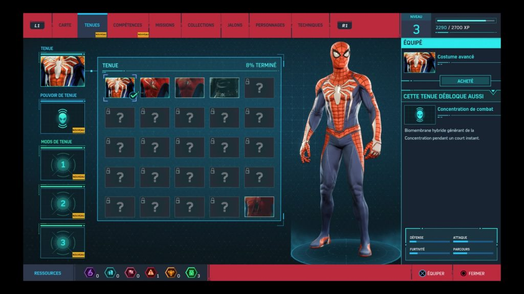 Test Marvel's spider-man armure