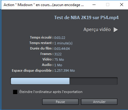 magix video 2019 encodage