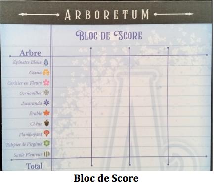 Score jeu Arboretum