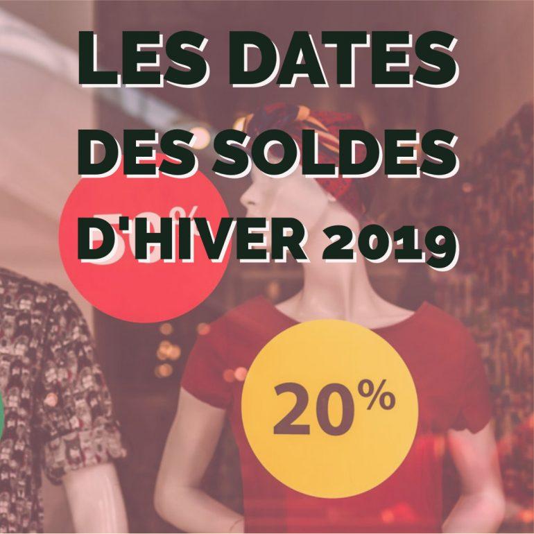 Les dates des soldes d'hiver 2019