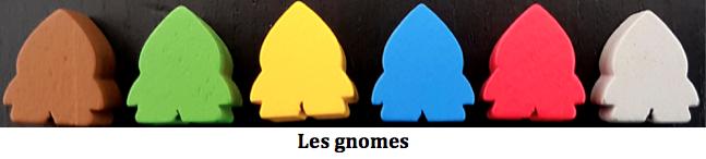 les gnomes du jeu Gnomopolis de Conclave Editora