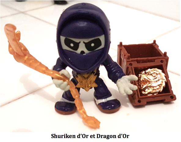 Découverte du trésor shuriken d'Or de la Brigade des Lames avec dragon d'Or