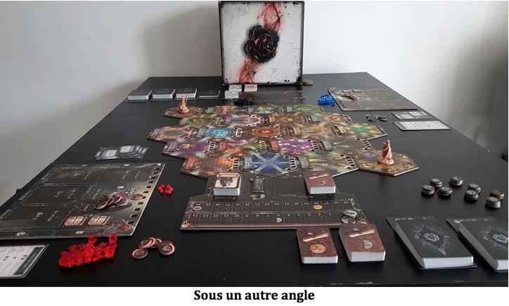 Black Rose Wars plateau de jeu avec les cartes et jetons