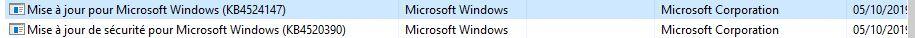 Mise à jour windows KB4524147