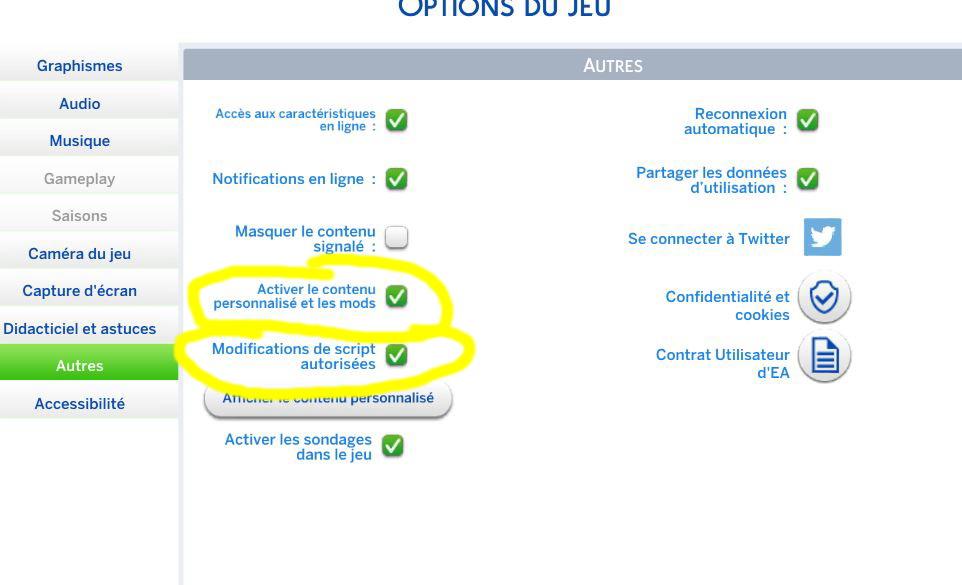 Activer autorisation mods sur Sims 4