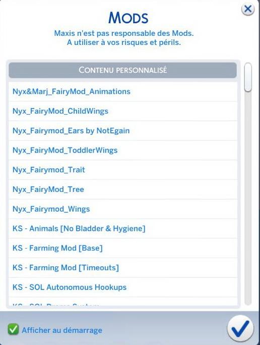 Liste des mods de Sims 4