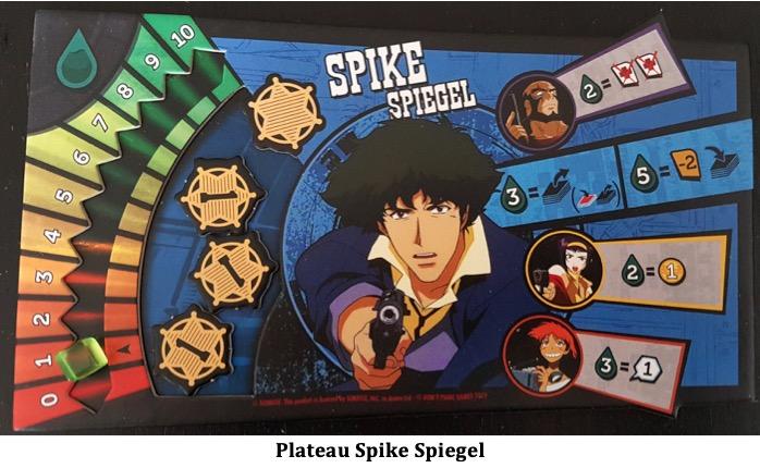 plateau de jeu spike spiegel de Cowboy Bebop, Space Serenade