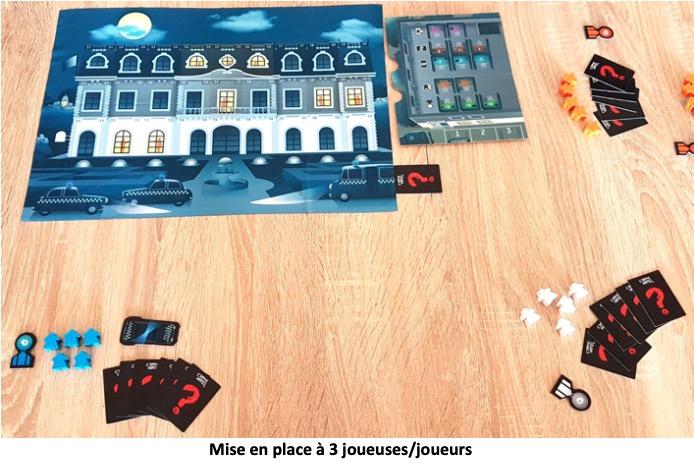 Plateau de jeu crime hotel