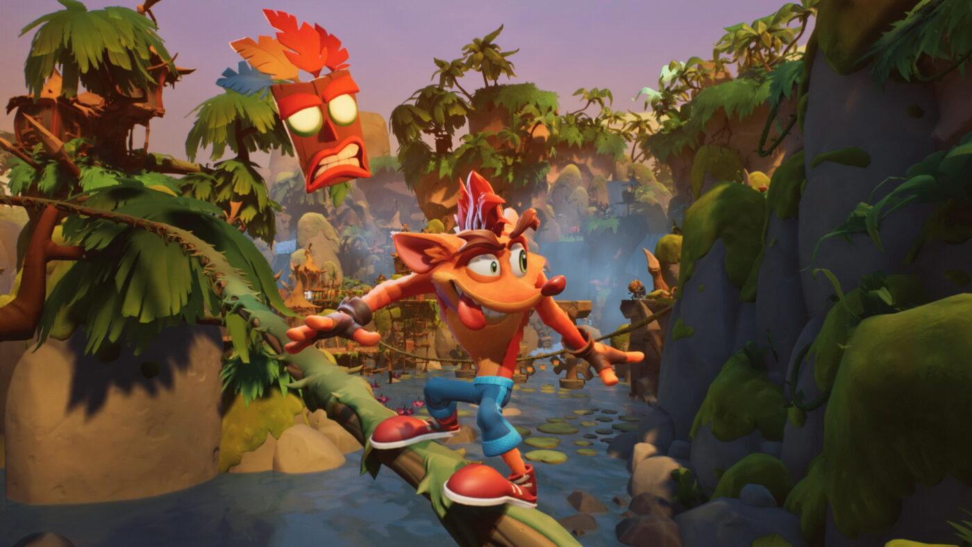 Crash dans Crash Bandicoot 4