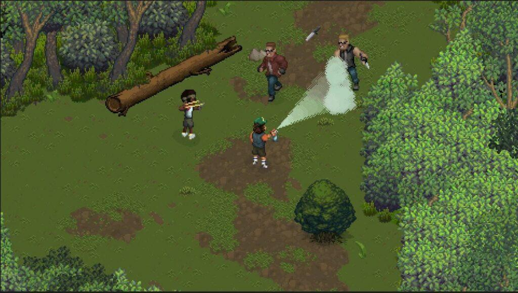 Les personnages de Stranger thinks dans la forêt