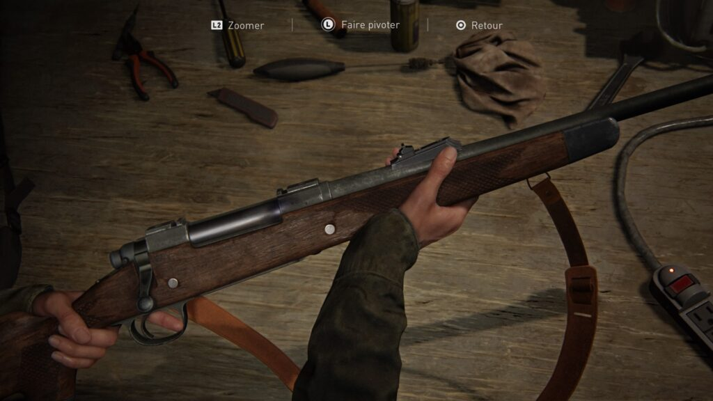 amélioration des armes dans le jeu