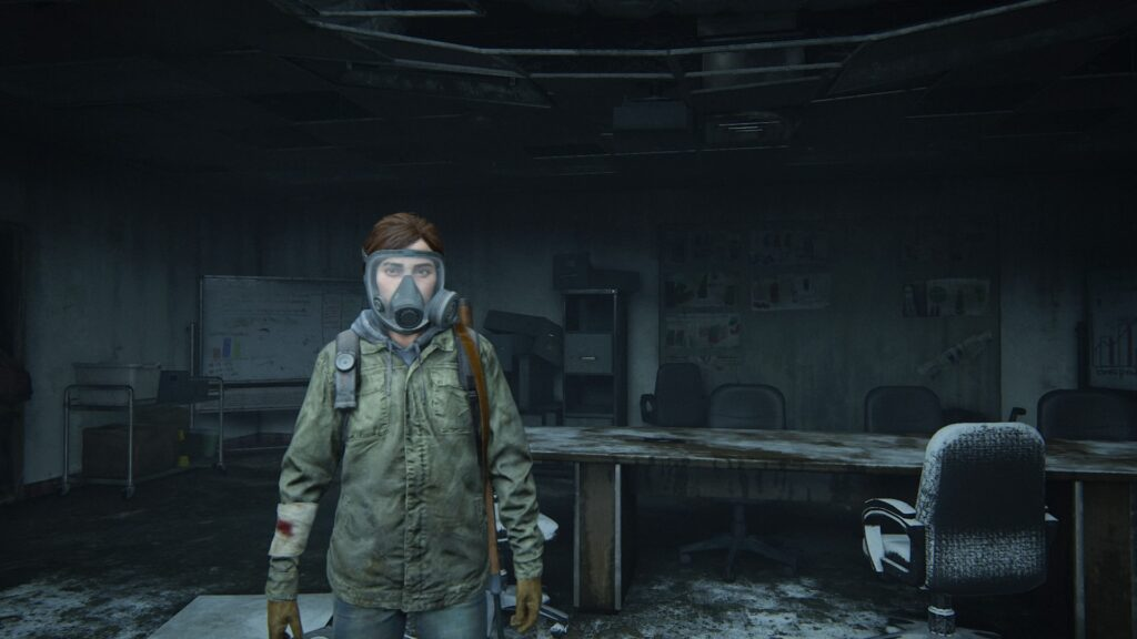 Ellie avec un masque