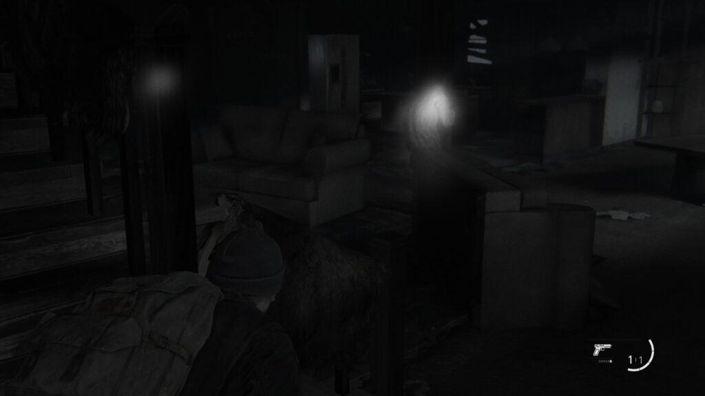 Ellie écoute où sont les ennemis