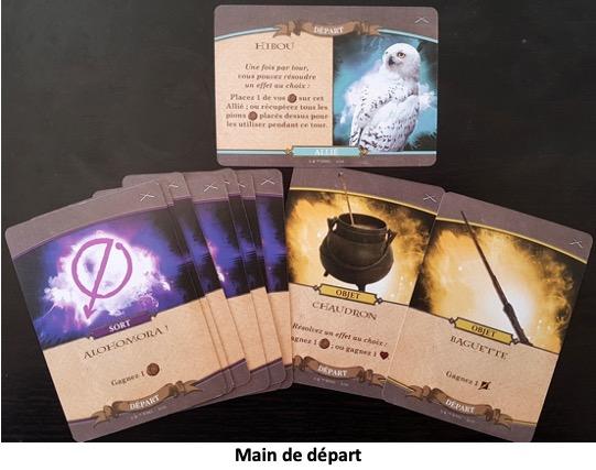Les cartes du jeu de société Harry Potter Bataille à Poudlard