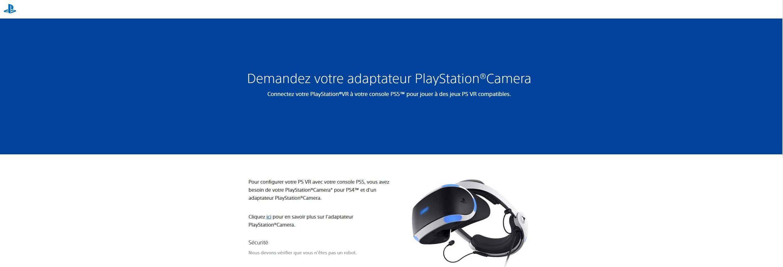 Demande adaptateur PSVR pour PS5