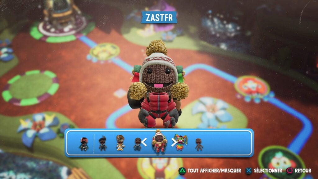 changement personnage Sackboy PS5