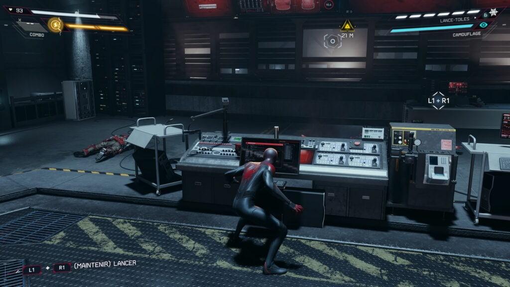 Spider-Man Miles Morales dans la salle de commande