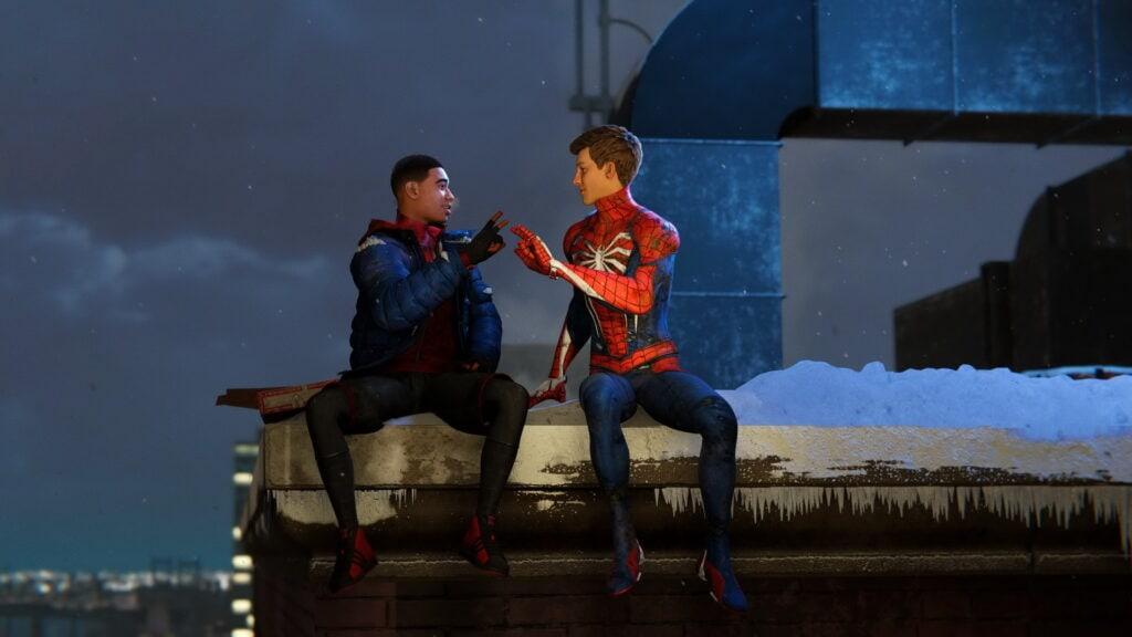 Peter Parker et Miles Morales