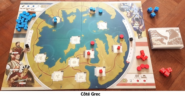 Plateau côté grec du jeu 300 La Terre et L'Eau