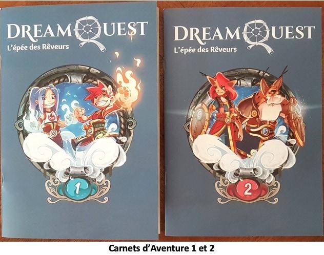 Couverture des carnets d'aventure 1 et 2 de DreamQuest Tome 1 L'Épée des Rêveurs