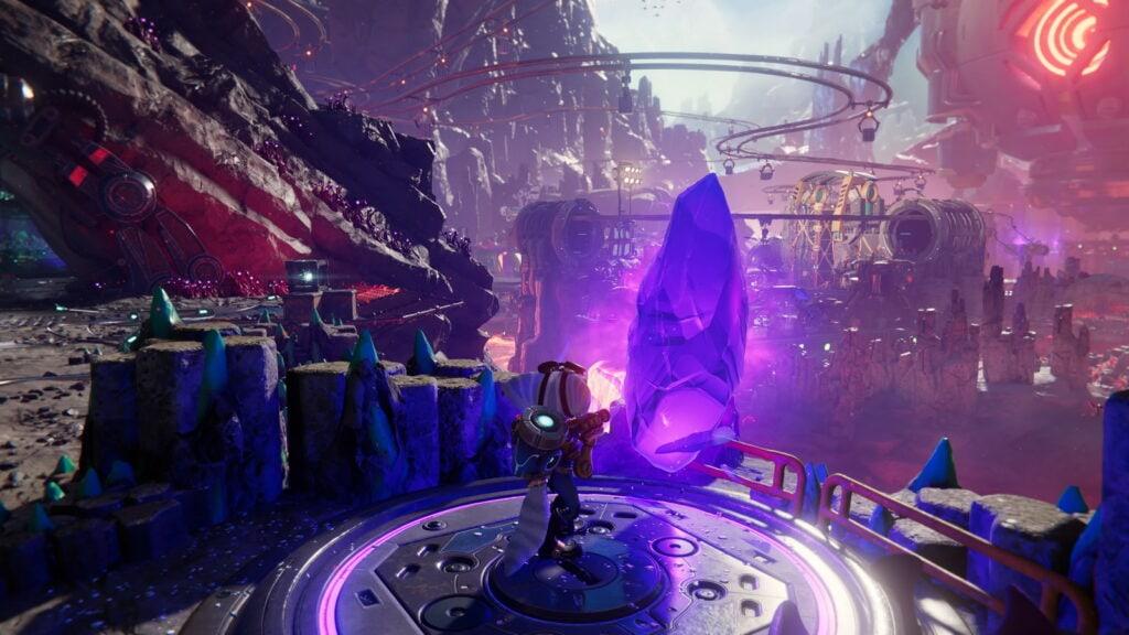 Ratchet and Clank Rift Apart dans lave