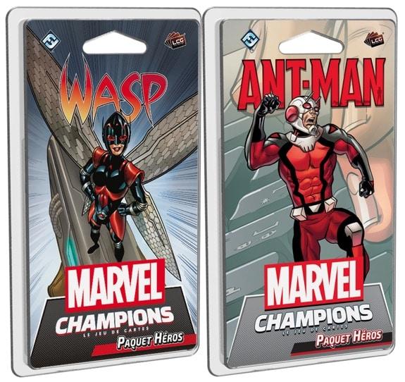 Marvel Champions le Jeu de cartes Wasp et Ant-Man jeu